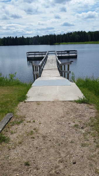 View from boat landing to access trail for pier
