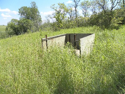 View of Deer Hunting Stand from west looking east
