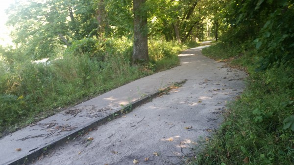 Major trail leading to access fishing areas